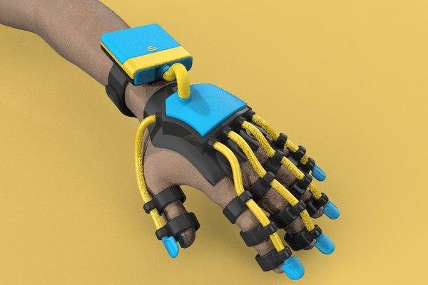 smart glove exoskeleton 3D model