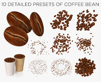 coffee beans collected 3D model