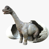 3D brachiosaurus rigged