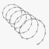 3D realistic barbed wire 03