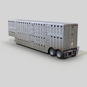 livestock trailer 48ft 3D model