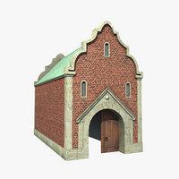 old city gate 3D model