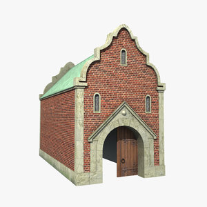 old city gate 3D model