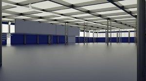 warehouse upper floors 3D