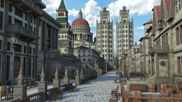 3D street classic fantasy