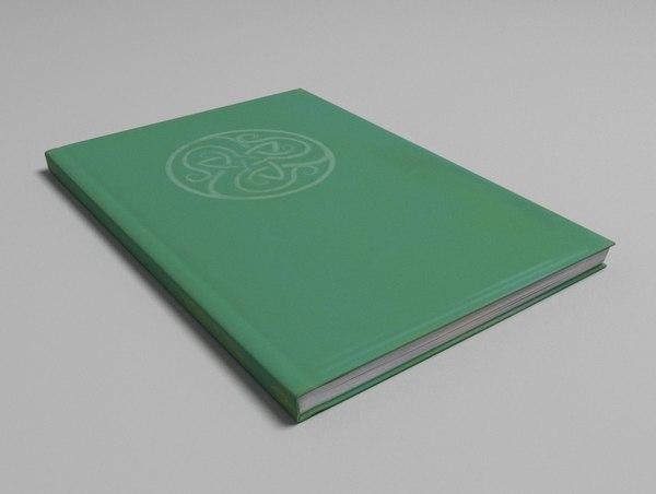 hardcover book 3D model