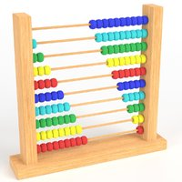 abacus toy 3D model