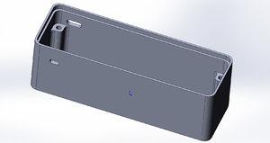aluminum esp32 18650 battery 3D