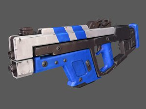 scifi assault rifle 3D model