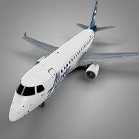 3D model alaska airlines embraer170 l503