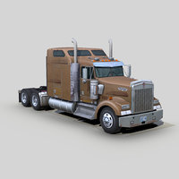 Kenworth W900 semi truck