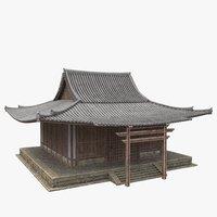 3D model japanese house