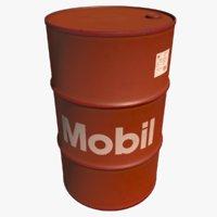 3D barrel mobil oil