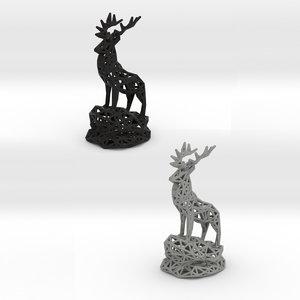 3D model deer male