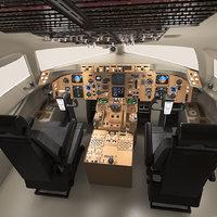 3D boeing 757-200 cockpit 757 model