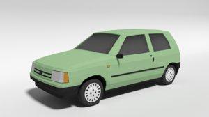 fiat uno car 3D model