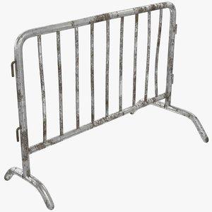 barrier fence 3D model