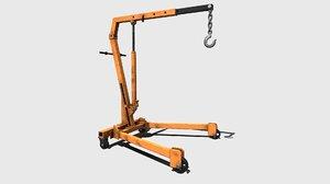 engine crane orange 3D model
