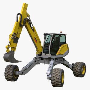 menzi muck excavator 3D model