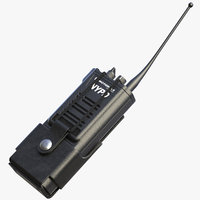 3D radio tactical belt holster model