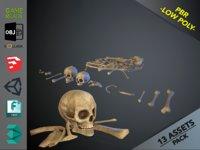 3D skulls1 bones