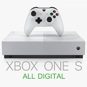 xbox s all-digital edition 3D model