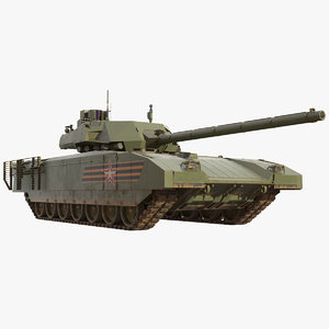 3D t-14 armata russian main model