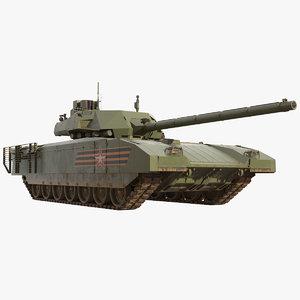 3D t-14 armata russian main model