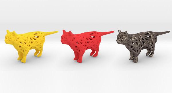 3D cat pets print model