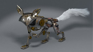3D mechanik fox animation