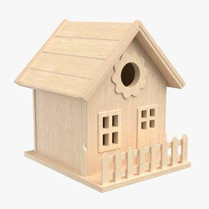 birdhouse pbr polys 3D