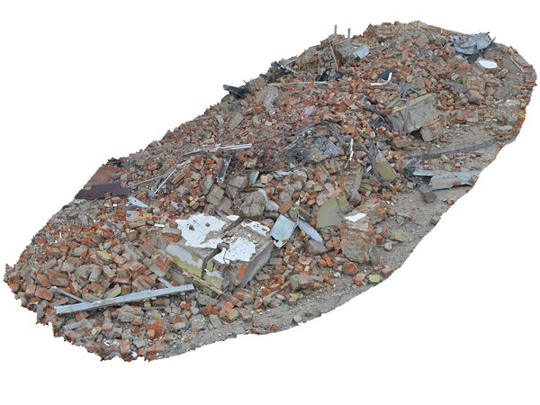 demolished building ultra hd 3D