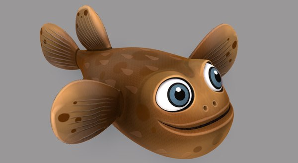 fish v06 cartoon animal model