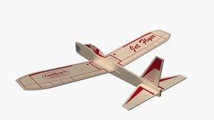balsa wood glider airplane toy model