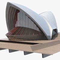 3D concert hall building