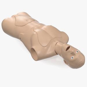resuscitation manikin torso 3D