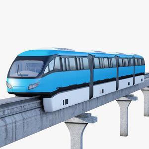 monorail train 3D model