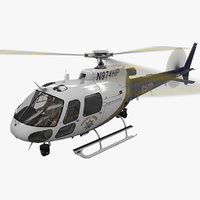 3D helicopter as-350 california highway model