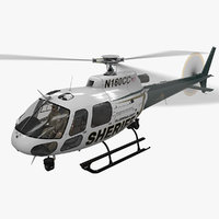 helicopter as-350 hillsborough sheriff 3D