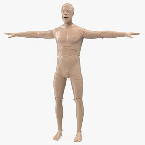 aid training manikin t-pose 3D