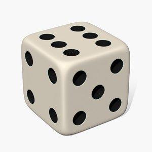 3D 6 dice -