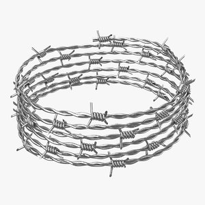 realistic barbed wire 02 model