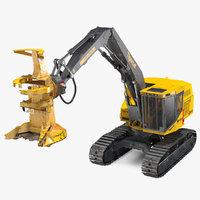 tigercat 855d tracked feller 3D model
