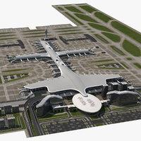 3D airport infrastructure model