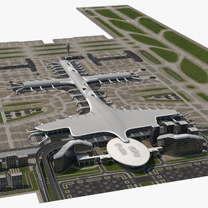 3D airport infrastructure model