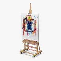 studio easel canvas 3D