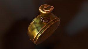 medieval copper bottle model