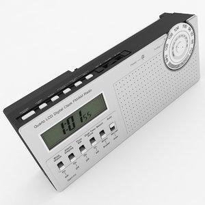 3D lcd clock radio