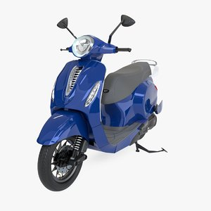 3D chetak electric scooter model