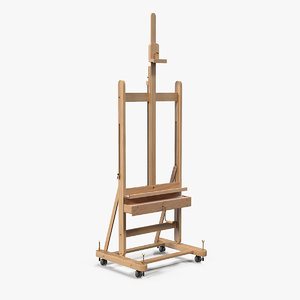 wooden studio easel model